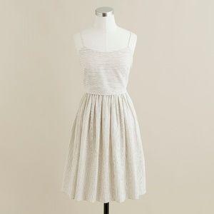 J.Crew Ticking-Stripe Derby Dress